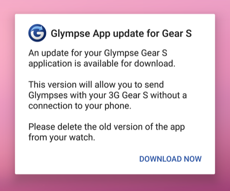 Updating Your Samsung Gear App – Glympse Support